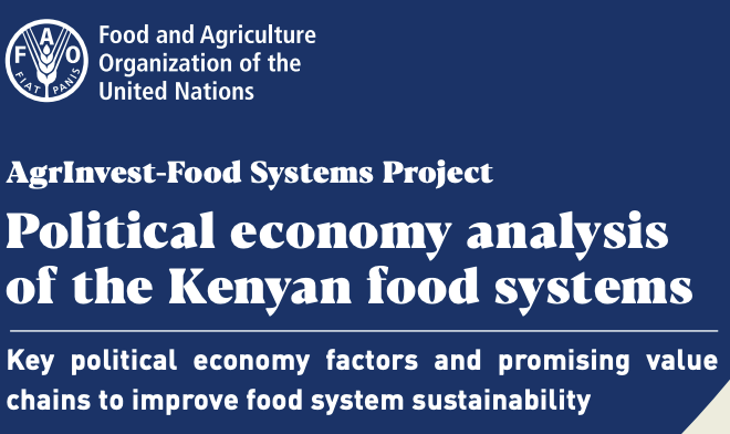 Political economy analysis of the Kenyan food systems
